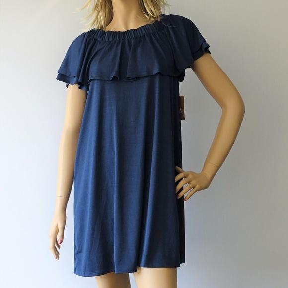 RACHEL Rachel Roy Dresses & Skirts - Rachel Roy Ruffle Of Shoulder Dress NWT